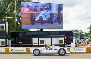 Светодиодный экран для автогонок