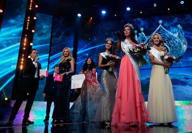 Мисс Россия 2015 на LED экране