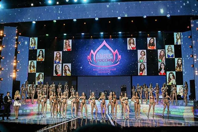 Светодиодные экраны на Мисс Россия-2015